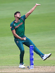 Bangladesh's Taskin Ahmed during the ICC Champions Trophy, Group A match at Sophia Gardens, Cardiff.