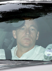 © London News Pictures. 27/09/2012. London, UK.  Chelsea FC captain JOHN TERRY arriving at Wembley Stadium on September 27, 2012 for fourth day of his FA disciplinary hearing in to allegations of racism. The 31-year-old defender denies using a racist slur during a confrontation with QPR player Anton Ferdinand at Loftus Road in October 2011. Photo credit : Ben Cawthra/LNP.
