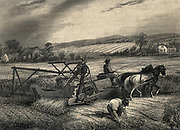 Cyrus McCormick's reaping machine of 1831, exhibited at the Crystal Palace exhibition of 1851.