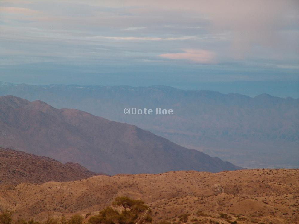 Sunset near Palm Desert California.
