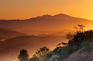 Sunrise over the Lamorinda Hills and Mt. Diablo, from Vollmer Peak, Contra Costa County, CALIFORNIA