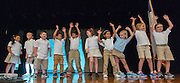 Durham Elementary School students perform during a stop of the Listen & Learn tour at Black Middle School, September 20, 2016.