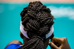 05-06-2018 NED: Volleyball Nations League Italy - Serbia, Rotterdam<br /> Paola Ogechi Egonu #18 of Italy hair