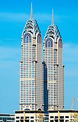 Al Kazim Towers, reproduction of Chrysler Building, in Dubai United Arab Emirates