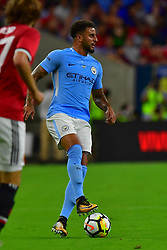 Manchester City defender Kyle Walker (2) controls the ball during play a the International Champions Cup match between Manchester United and Manchester City at NRG Stadium in Houston, Texas