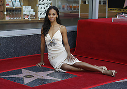 May 3, 2018 - Los Angeles, California, U.S - Actress Zoe Saldana attends her star honoring ceremony on the Hollywood Walk of Fame in Los Angeles, May 3, 2018. (Credit Image: © Ringo Chiu via ZUMA Wire)