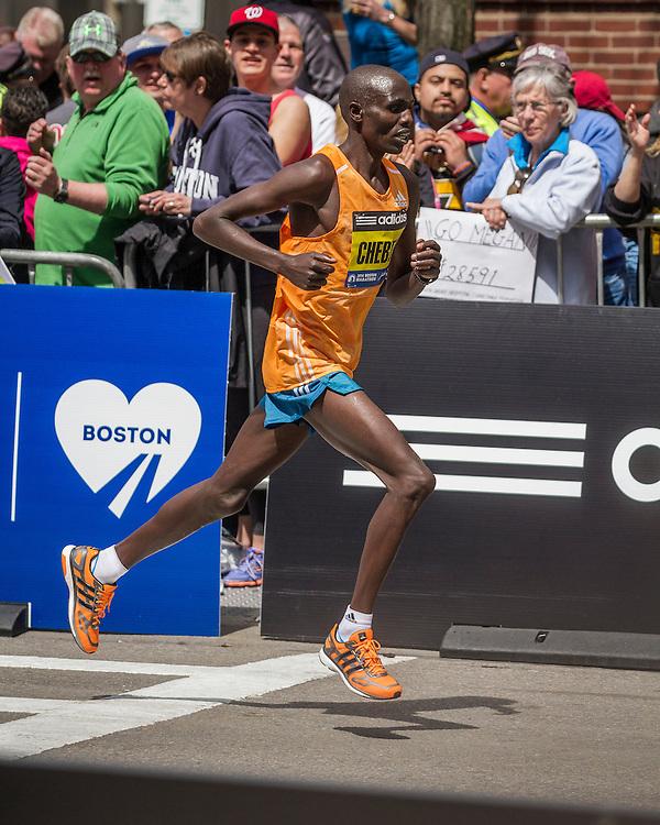 2014 Boston Marathon: runner up Wilson Chebet