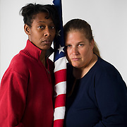 """Tracey Cooper-Harris, in red , an Army veteran, is legally married in CA to Maggie. Tracey has been told that her medical benefits are not available to her same sex spouse. FOR MORE IMAGES, PLEASE SEARCH """"TRACEY COOPER-HARRIS"""""""