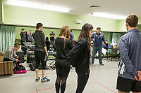 Rocky Horror Show with Winnipesaukee Playhouse - set building and rehearsals.  Karen Bobotas for the Laconia Daily Sun