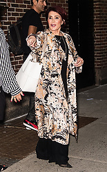 Sharon Osbourne is seen leaving 'The Late Show with Stephen Colbert' in New York. 04 Sep 2018 Pictured: Sharon Osbourne. Photo credit: MEGA TheMegaAgency.com +1 888 505 6342