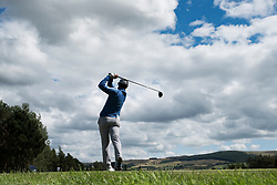 Gleneagles, Scotland, UK; 9 August, 2018.  Day two of European Championships 2018 competition at Gleneagles. Men's and Women's Team Championships Round Robin Group Stage - 2nd Round. Four Ball Match Play format. Connor Syme  of team GB