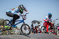 #91 (VANHOOF Elke) BEL at round 8 of the 2018 UCI BMX Supercross World Cup in Santiago del Estero, Argentina.