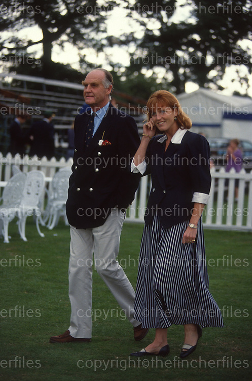 Sara, Duchess of York with her father Major Ronald Ferguson at the Royal Berkshire Polo Club in July 1992. Photograph by Jayne Fincher