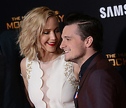JENNIFER LAWRENCE and JOSH HUTCHERSON  at the premiere of 'The Hunger Games: Mockingjay - Part 2' held at the Micorsoft theatre.<br /> ©Exclusivepix Media