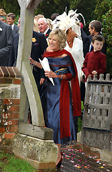 ANNABEL ELLIOT sister of Camilla Parker Bowles at the wedding of Tom Parker Bowles to Sara Buys at St.Nicholas Church, Rotherfield Greys, Oxfordshire on 10th September 2005.<br /><br />NON EXCLUSIVE - WORLD RIGHTS