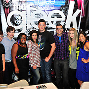 KING OF PRUSSIA - AUGUST 19:  (L-R) Cast members of the FOX TV show Glee: Kevin McHale, Chris Colfer, Amber Riley, Lea Michele, Cory Monteith, Mark Salling, Dianna Agron and Jenna Ushkowitz inside the clothing store Hot Topic during meet and greet on August 19, 2009 at King of Prussia Mall, King of Prussia, Pennsylvania.  (Photo by Lisa Lake/Getty Images for Fox)