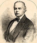 Charles Bradlaugh (1833-1891) English politician, free-thinker and social reformer, born Hoxton, London. Lectured under the name 'Iconoclast'.  Elected Member of Parliament for Northampton in 1880, he refused to take the oath of alliegance and was expelled from the House. Re-elected and rejected until 1886 when he finally took the oath. Engraving from 'TheI llustrated London News' (London,11 February 1882).