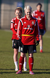 NEWPORT, WALES - Monday, February 9, 2015: Wales' Lauren Townsend during a training session at Dragon Park. (Pic by David Rawcliffe/Propaganda)