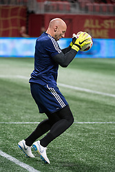 August 1, 2018 - Atlanta, Georgia, United States - MLS All-Star goalkeeper BRAD GUZAN, 1, (Atlanta United) warms up before the 2018 MLS All-Star Game at Mercedes-Benz Stadium in Atlanta, Georgia.  Juventus F.C. defeats  MLS All-Stars defeat  1 to 1  (Credit Image: © Mark Smith via ZUMA Wire)
