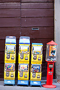 Sweet dispensers  in Radda-in-Chianti, Tuscany, Italy
