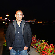 Inter Milan Ex Dutch midfielder, Turkish soccer club Galatasaray new player Wesley Sneijder seen Bosphorus in Istanbul Turkey on Monday 21 January 2013. Galatasaray, Inter Milan Dutch midfielder played with a three and a half year deal gave Wesley Sneijder. Photo by TURKPIX