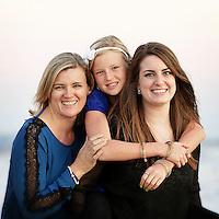 2 November 2014:  Carolyn, Katie (25) and Lucy (10) Gregg in Newport Beach, CA.
