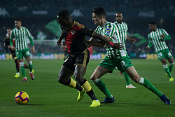 December 9, 2018 - Seville, Andalucía, Spain - Marc Bartra, Real Betis, and Advíncula, Rayo, fight for the ball during the LaLiga match between Real Betis and Rayo in Benito Villamarín Stadium (Seville) (Credit Image: © Javier MontañO/Pacific Press via ZUMA Wire)