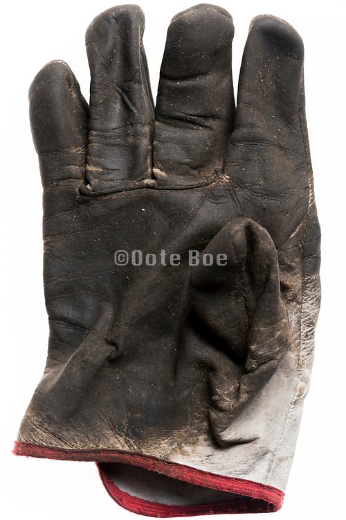 leather used workers gloves still life