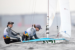 10.08.2016, Marina da Gloria, Rio de Janeiro, BRA, Rio 2016, Olympische Sommerspiele, Segeln, Damen 470er Klasse, im Bild Polly Powrie (NZL), Jo Aleh (NZL) // Polly Powrie of New Zealand Jo Aleh of New Zealand during the womens 470 class Sailing of the the Rio 2016 Olympic Summer Games at the Marina da Gloria in Rio de Janeiro, Brazil on 2016/08/10. EXPA Pictures © 2016, PhotoCredit: EXPA/ Johann Groder