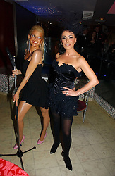 NANCY DELL'OLIO and wax work of Jessica Simpson at Andy & Patti Wong's annual Chinese New year Party, this year to celebrate the Year of The Pig, held at Madame Tussauds, Marylebone Road, London on 27th January 2007.<br /><br />NON EXCLUSIVE - WORLD RIGHTS