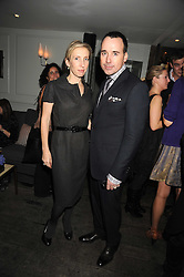 DAVID FURNISH and SAM TAYLOR-WOOD at a party to celebrate the launch of the Cowshed range of cosmetics in aid of the charity Hope & Homes for Children, held at 15-17 Old Compton Street, London on 19th November 2008.