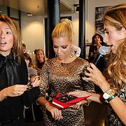NLD/Amsterdam/20120905 - Lancering sieradenlijn Gassan Diamonds en Danie Bles gepresenteerd aan Sylvie van der Vaart, Deborah Leeser, Sylvie met Danie Bles