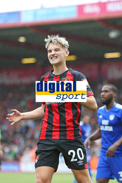 Football - 2018 / 2019 Premier League - AFC Bournemouth vs. Cardiff City<br /> <br /> Bournemouth's David Brooks shows his frustration after missing a chance at the Vitality Stadium (Dean Court) Bournemouth <br /> <br /> COLORSPORT/SHAUN BOGGUST