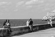 Couples on the Malecon. Havana Cuba. March/2013.