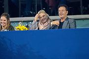 Koning Willem-Alexander en prinses Amalia zijn aanwezig in de RAI tijdens de wereldbeker springen bij Jumping Amsterdam.<br /> <br /> King Willem-Alexander and princess Amalia are present at the RAI during the World Cup jumping at Jumping Amsterdam.<br /> <br /> Op de foto:  Gerard Joling