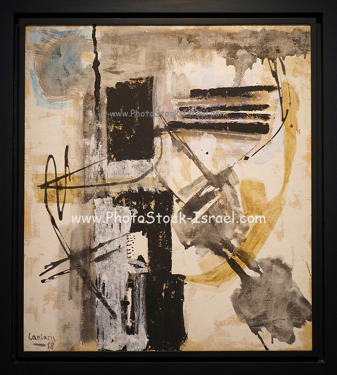 Vlassis Caniaris (1928 - 2011), Untitled, 1958, Mixed media on canvas, <br /> 89.5 × 79 cm The Goulandris Museum of Contemporary Art is a modern art museum in Eratosthenous Street, Pangrati, Athens, Greece, opened in October 2019.