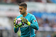Lukasz Fabianski , the Swansea city goalkeeper in action. Premier league match, Swansea city v Manchester city at the Liberty Stadium in Swansea, South Wales on Saturday 24th September 2016.<br /> pic by Andrew Orchard, Andrew Orchard sports photography.