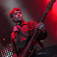 John Hassall of The Libertines at The Manchester Phones4U Arena on the second night of their Anthems For Doomed Youth Arena Tour