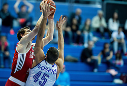 Matt Howard of SIG Strassbourg vs Ante Gospic of Cibona during basketball match between KK Cibona Zagreb (CRO) and SIG Strasbourg in Round #6 of FIBA Champions League 2016/17, on November 23, 2016 in Drazen Petrovic Basketball center, Zagreb, Croatia. Photo by Vid Ponikvar / Sportida