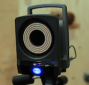 Several Vicon T-20 cameras with infrared filters that emit and receive infrared light are used to create 3D models of participants at the UVA SPEED Clinic in Charlottesville, VA. Photo/Andrew Shurtleff