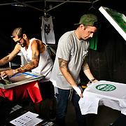 Vendors at Bumbershoot 2013 in Seattle, WA USA