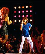 Mick Jagger and Tina Turner perform at Live Aid Philadelphia 1985