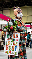 during the current coronavirus outbreak, Natty Mason a canine well activist comes to remind pet owners that the best defence against any disease is a strong immune system through good nutrition.at Crufts 2020 held at the NEC Birmingham.photo Mark Anton Smith