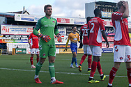 Dillon Phillips of Charlton Athletic (1) during the The FA Cup match between Mansfield Town and Charlton Athletic at the One Call Stadium, Mansfield, England on 11 November 2018.