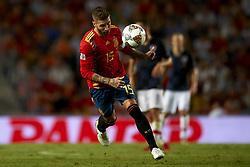 September 11, 2018 - Elche, Spain - Sergio Ramos of Spain  during the UEFA Nations League football match between Spain and Croatia at Martinez Valero Stadium in Elche, Spain on September 8, 2018. (Credit Image: © Jose Breton/NurPhoto/ZUMA Press)