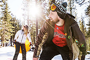 California advertising photographer Raymond Rudolph photographs winter lifestyle in Lake Tahoe