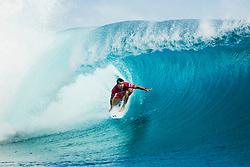 Aug 12, 2017 - teahupo'o, Tahiti, French Polynesia - Julian Wilson (AUS) placed 1st in Heat 9 of Round Three at Billabong Pro Tahiti 2017 (Credit Image: © WSL/POULLENOT/World Surf League via ZUMA Wire)