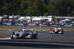 September 2, 2018 - Portland, Oregon, United Stated - JOSEF NEWGARDEN (1) of the United States battles for position during the Portland International Raceway at Portland International Raceway in Portland, Oregon. (Credit Image: © Justin R. Noe Asp Inc/ASP via ZUMA Wire)