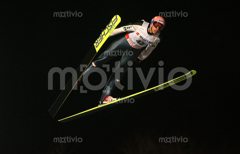 Sapporo , 240207 , Nordische Ski Weltmeisterschaft  Skispringen Grosschanze ,  Andreas KOFLER (AUT)
