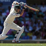 Australian batsman Michael Clarke in action during day one of the third test match between Australia and South Africa at the Sydney Cricket Ground on January 4, 2009 in Sydney, Australia. Photo Tim Clayton